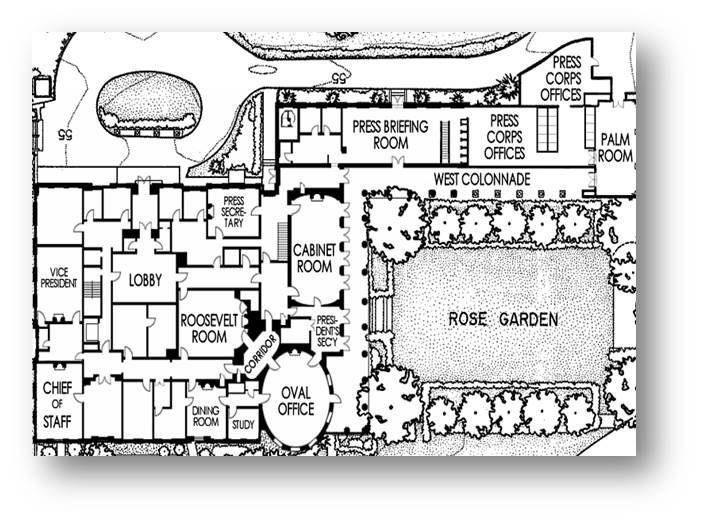 White House Floor Plan West Wing Jpg 701 521 Pixels House Floor Plans Floor Plan Layout White House