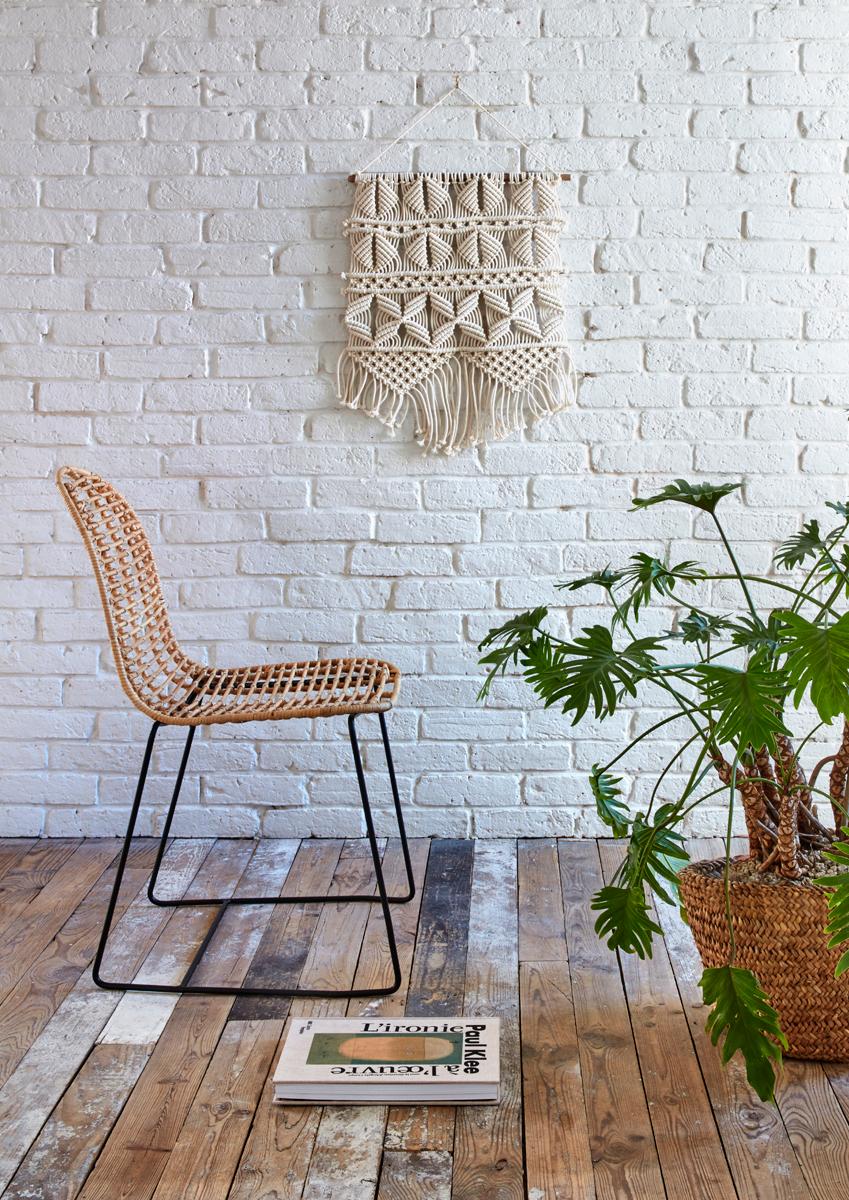 Chaise En Rotin Aliza Miel But Salon Decoration Ethnique Fauteuil De Table Chaise Rotin Idee Deco Salon