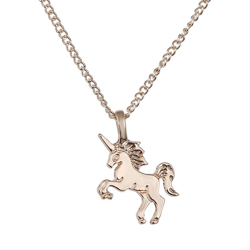 Love Unicorn Forever Pendant Necklace Horse Animal Handmade