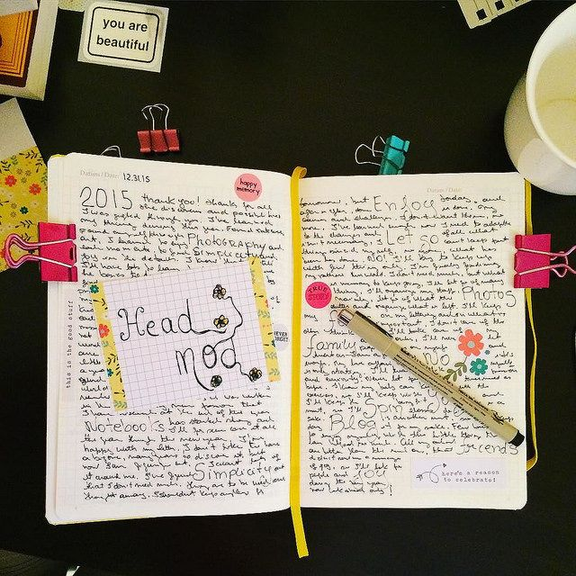 Journaling to say thanks to 2015, a year of...
