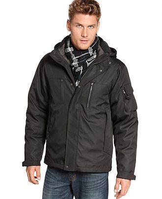 Calvin Klein Jacket, Bonded Rip-Stop 3-in-1 Jacket - Mens Coats ...