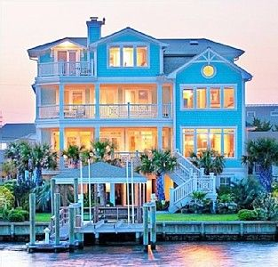 Wrightsville Beach House Al Designer S Own Fabulous Home With 30 Ft Dock On Serene Lagoon Homeaway