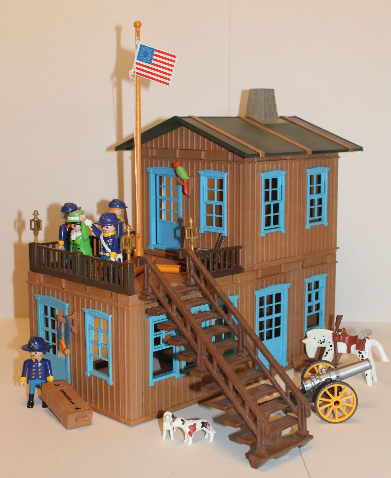 PLAYMOBIL Western Nordstaatler Custom Villa / Ranch / Wohnhaus | eBay