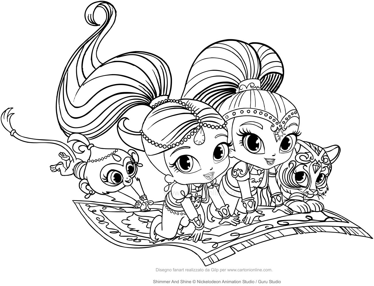 Disegno Di Shimmer And Shine Da Stampare E Colorare Theme Shimmer