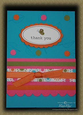 Purely Stamping: More Thank You Cards....Using Stampin' Up! Oval All retired stamp set.