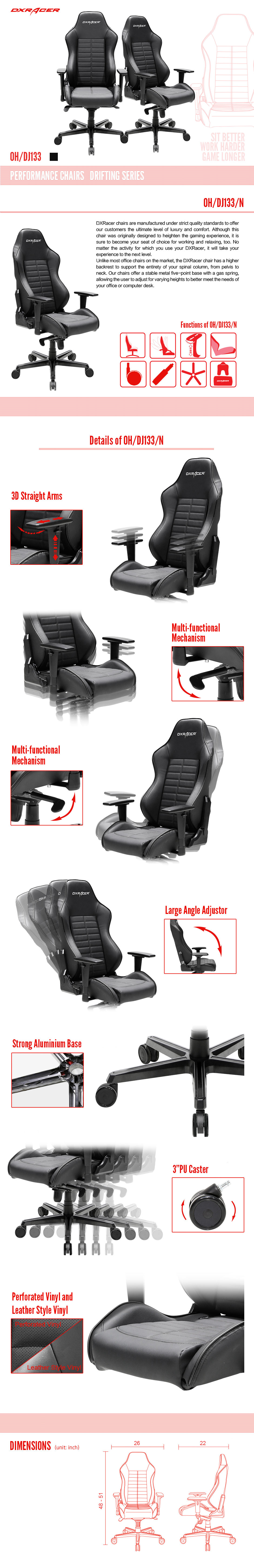 OH/DJ133/N - Drifting Series - Performance Chairs | DXRacer Official Website - Best Gaming Chair and Desk in the World