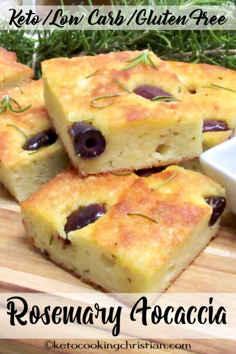 Rosemary And Kalamata Olive Focaccia Keto Low Carb