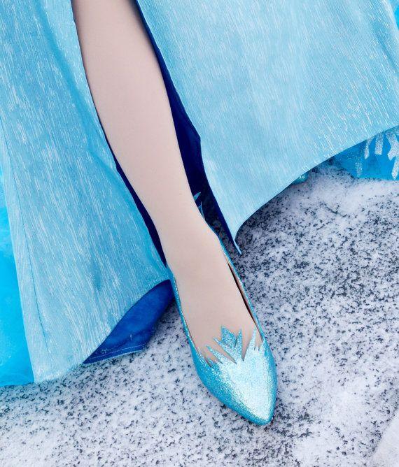 Aangepaste Elsa schoenen van RoyalPrincessPrep op Etsy