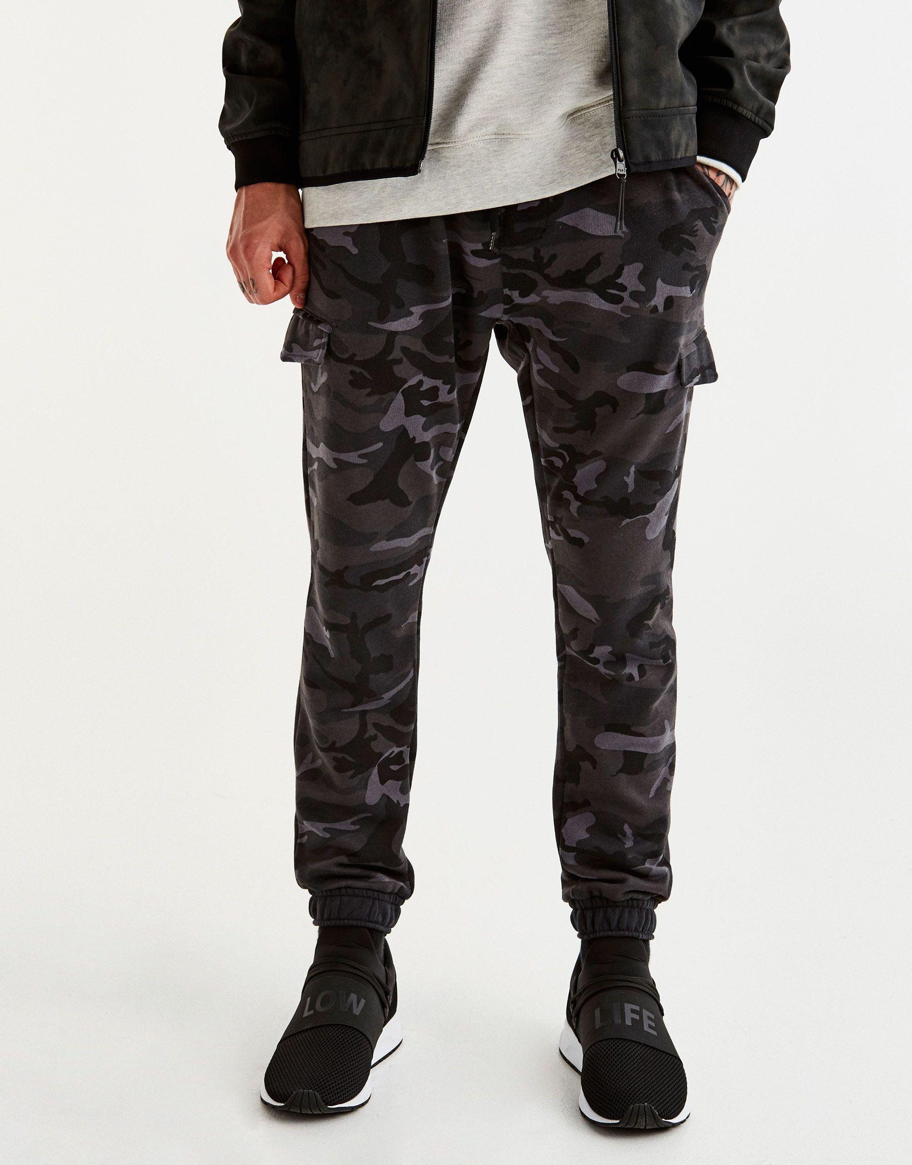 Jogging cargo camuflaje gris - Joggers - Pantalones - Ropa ...