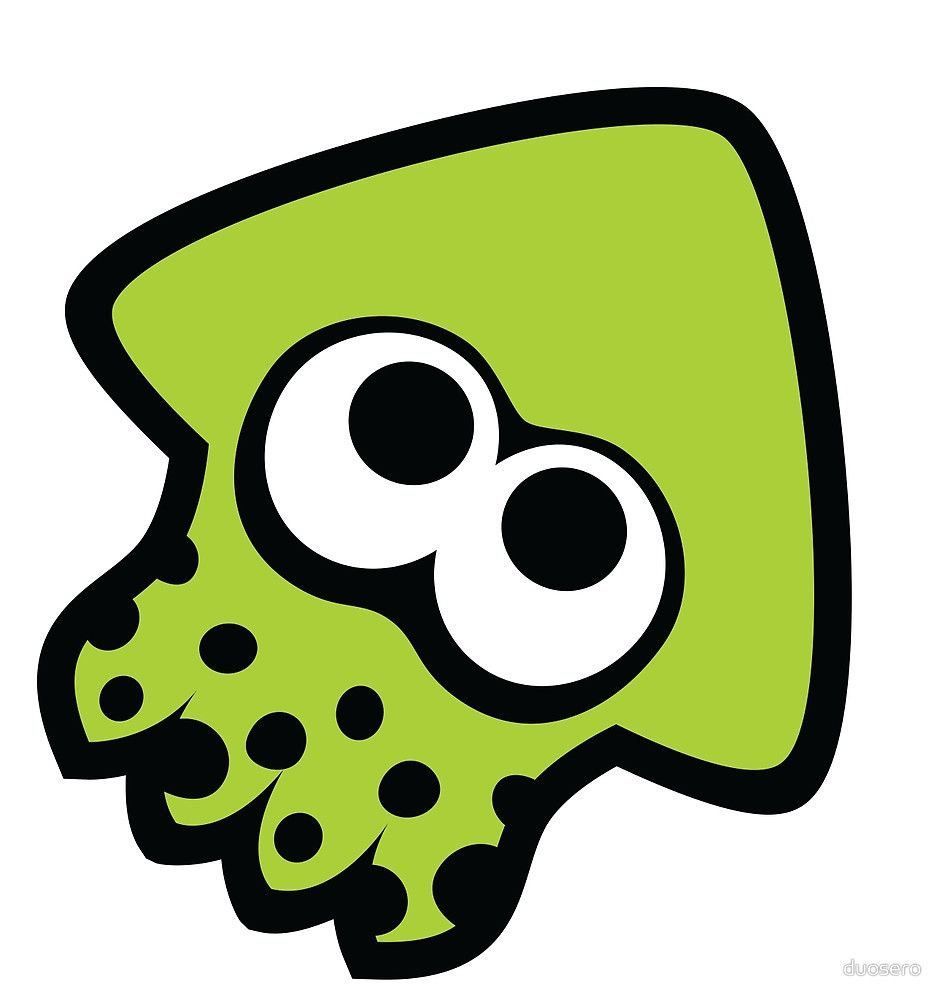 squid by duosero green sticker splatoon splatoon squid green sticker splatoon splatoon squid