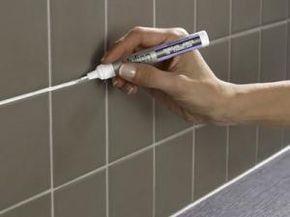 Renover Des Joints Carrelage Avec Le Stylo Peinture Julien En 2020 Renover Joints Carrelage Joint De Carrelage Stylo Peinture