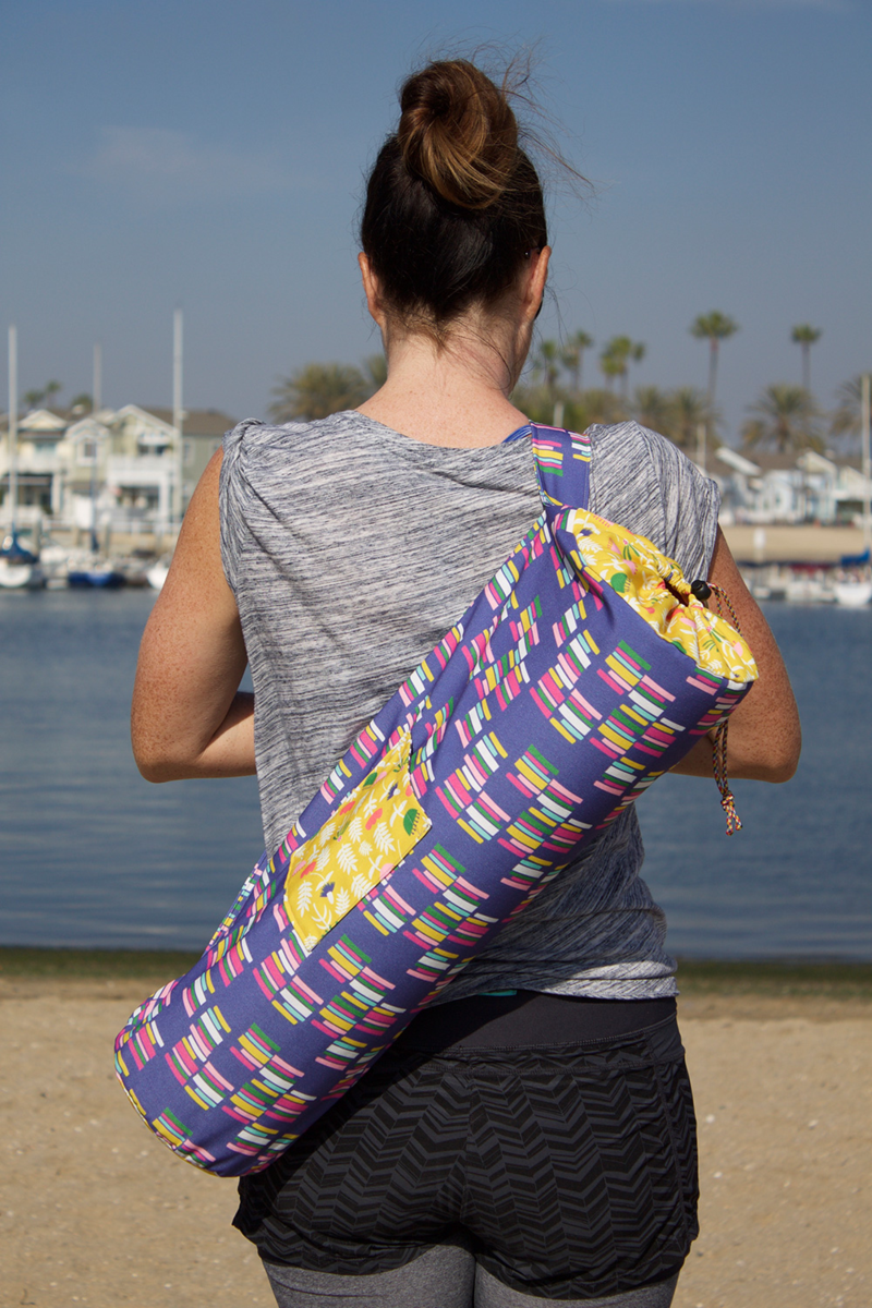 Diy Yoga Bag Tutorial And You Can Use Fabric Designs