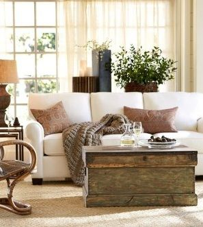 What If I Put A Table Behind Couch With Plant In Bay Window