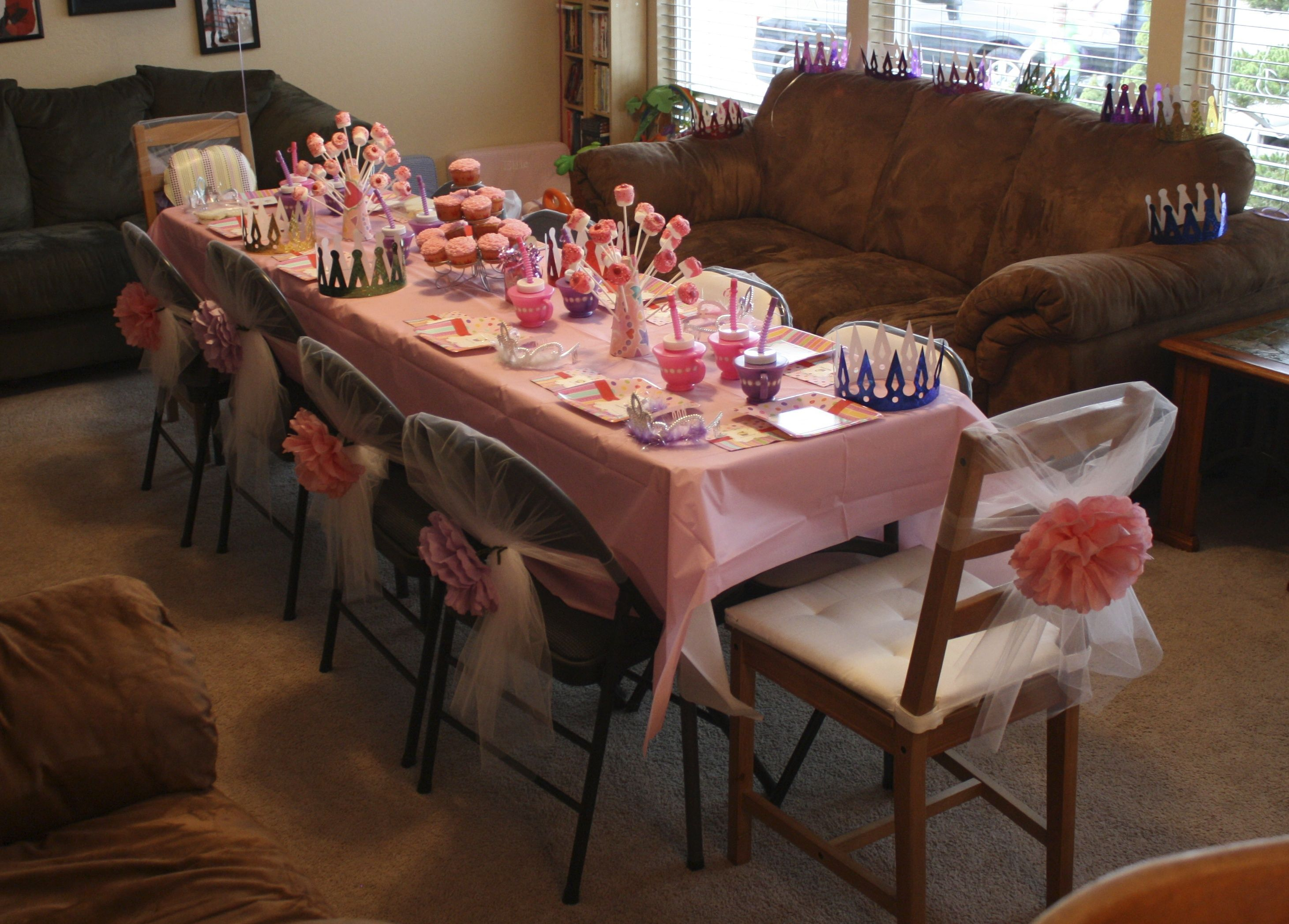 Princess Tea Party 2 year old birthday party for my little girl