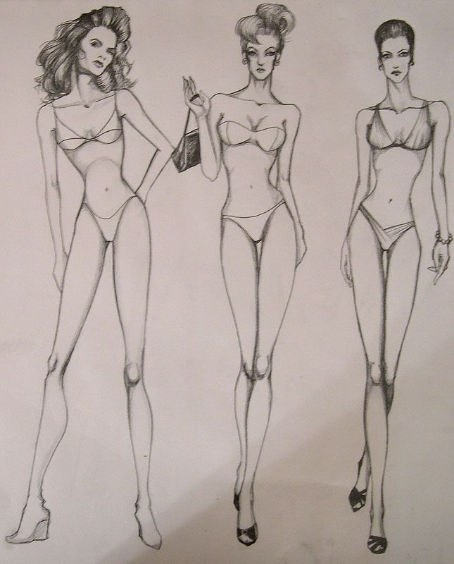 Photo of full figure sketch for class by die-chan on DeviantArt