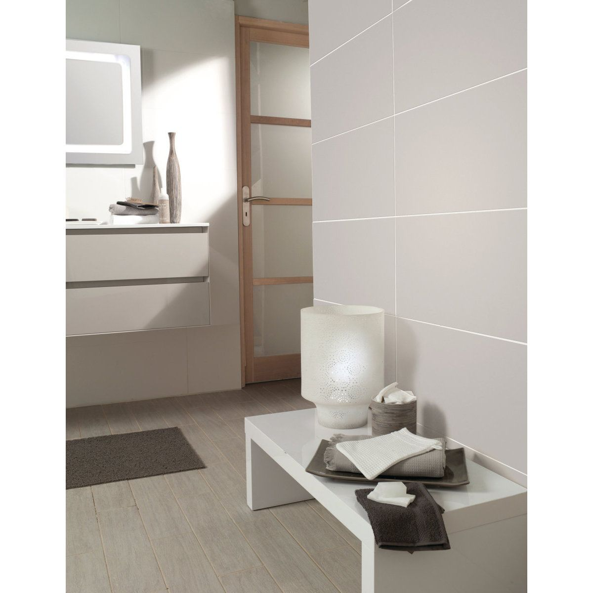 carrelage mural fa ence les exclusifs cristal gris lustr. Black Bedroom Furniture Sets. Home Design Ideas