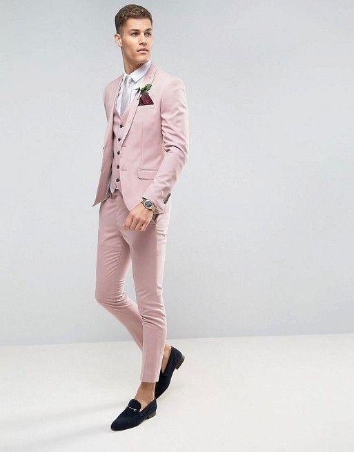 River Island Skinny Suit In Pink | Grooms & Groomsmen From Aisle ...