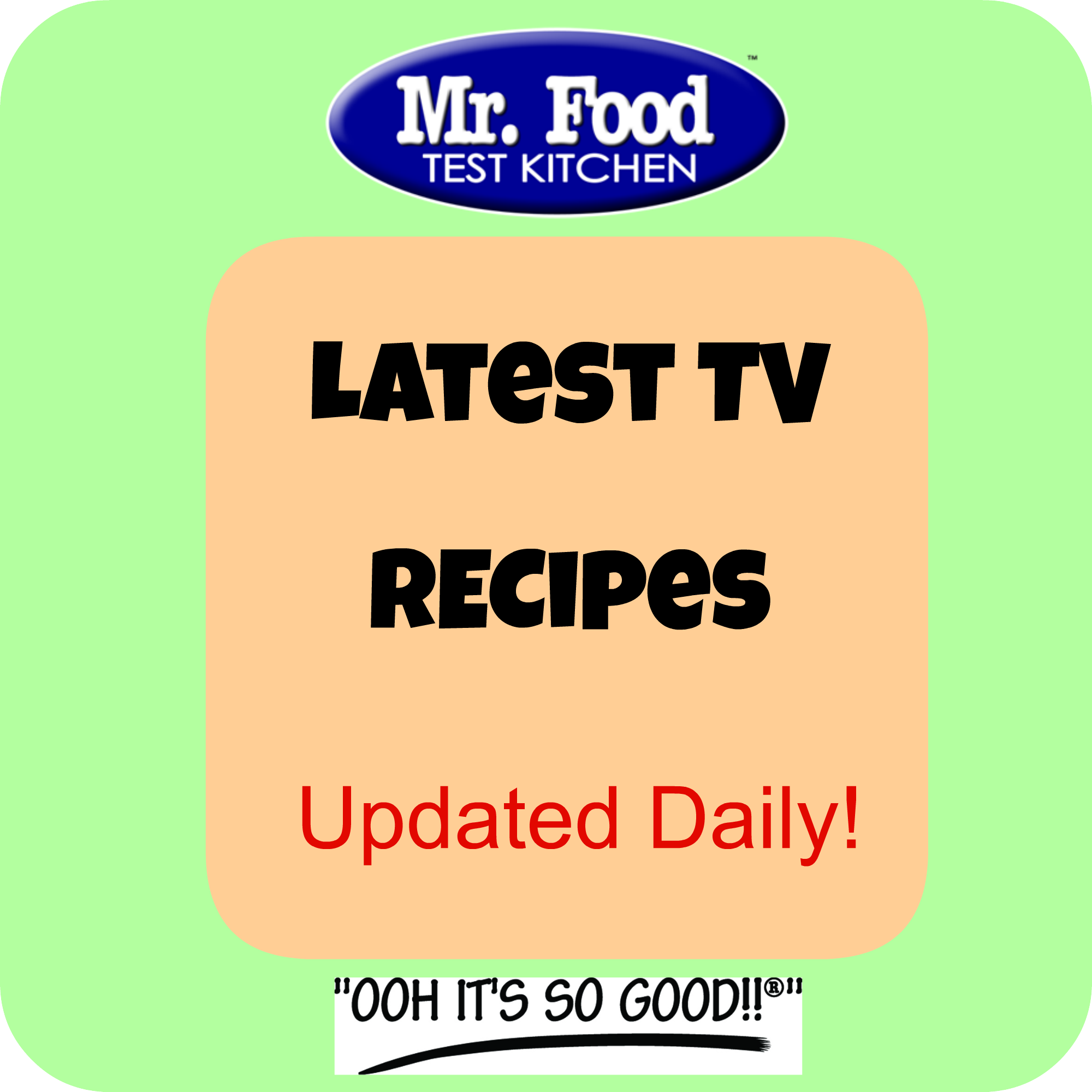 Mr Food Recipes