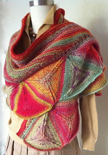 Ojo de Dios shawl