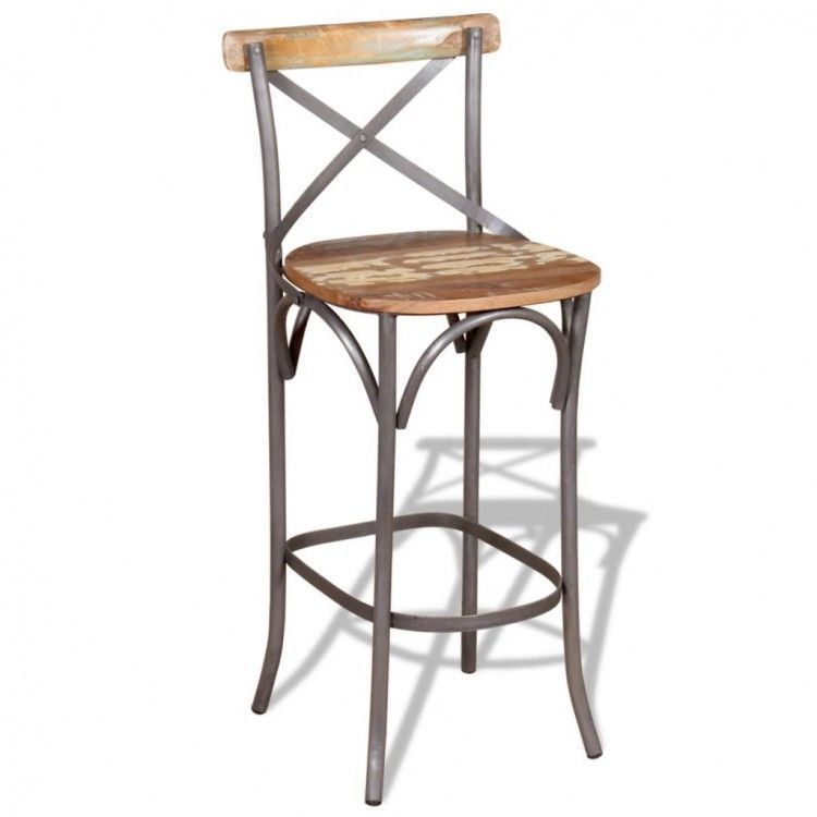 Dining Table Bar Stools Wooden Metal Tall Counter Height Chair