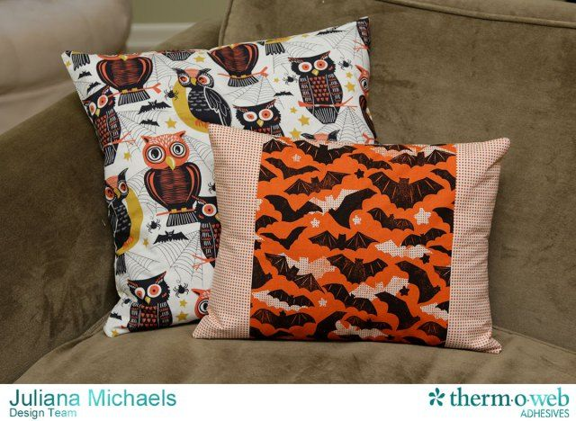 DIY Halloween Envelope Pillow Cover by Juliana Michaels featuring - halloween michaels