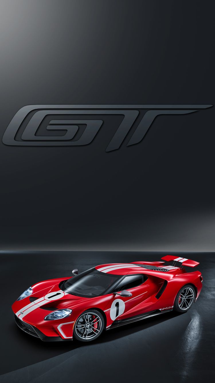 Universal Phone Wallpapers Backgrounds Red Ford Gt Super Car Iphone Htc Samsung Sony Lg Ford Gt Car Dealership Super Cars