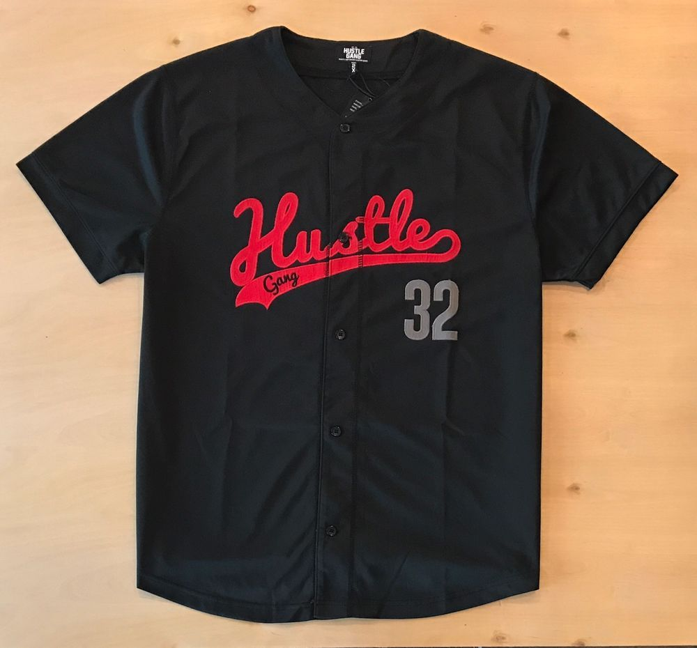 27f270410ee Hustle Gang Men s 2XL Baseball Jersey NWT