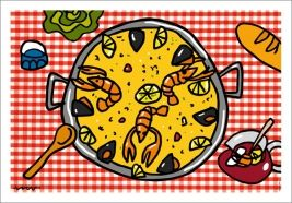 Callate La Boca Bandeja Grande Paella Pin Art Food Pictures Spain Party