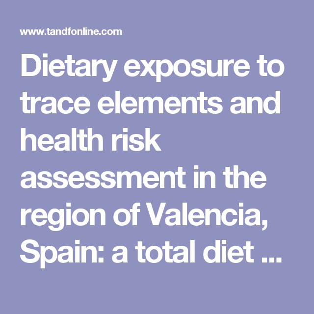 Dietary Exposure To Trace Elements And Health Risk Assessment In