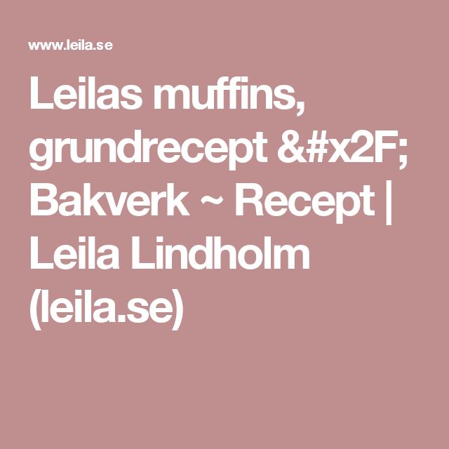 chokladmuffins recept leila
