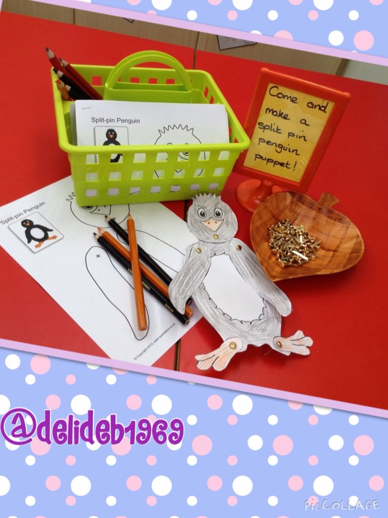 Penguin Split Pin Puppet Activity Using Printable From Sparklebox Penguins Puppets Activities [ 1024 x 768 Pixel ]