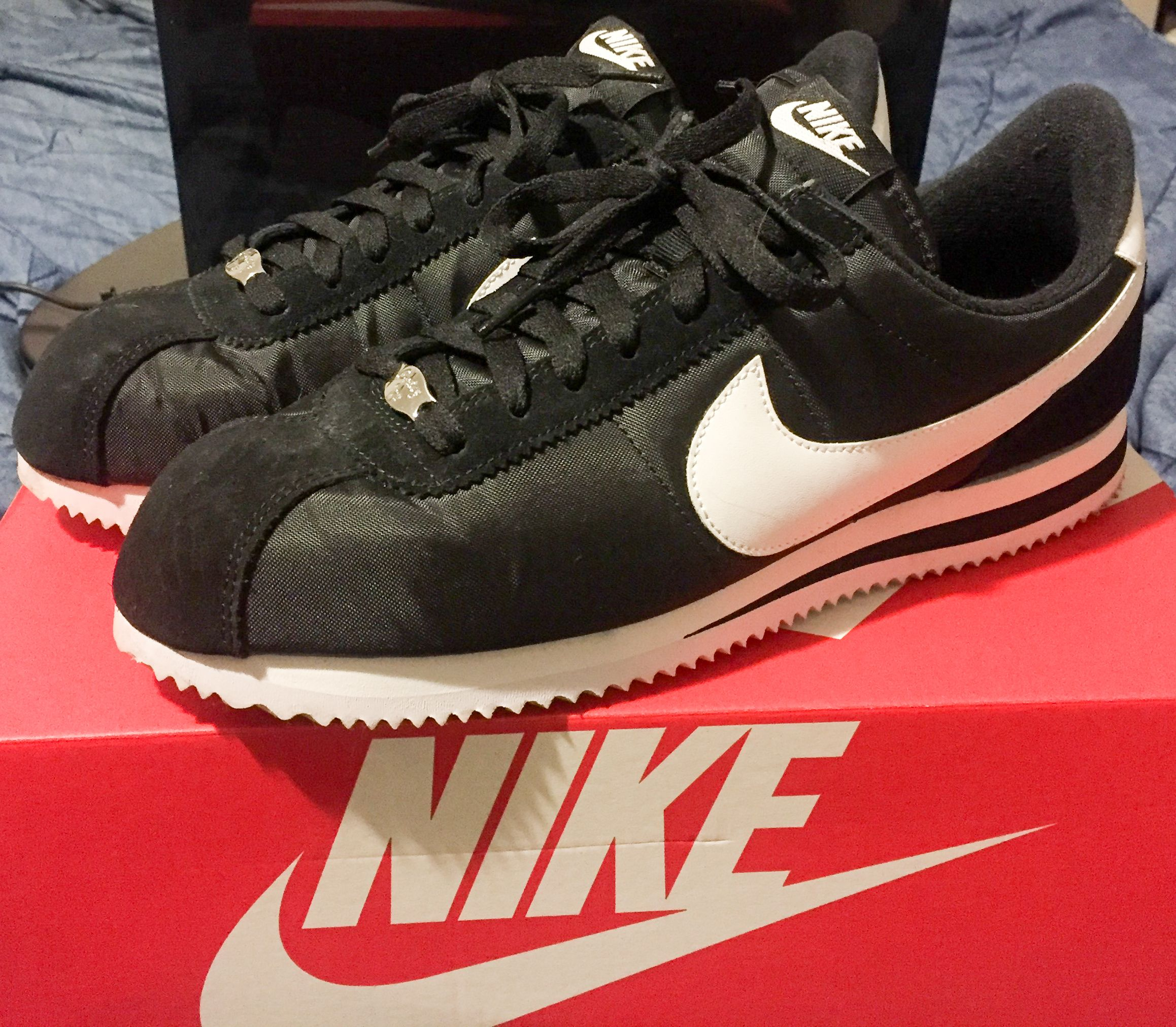 e5c258d2a22e  Pickup  Nike Cortez Basic Black Nylon on sale plus a 20% off coupon    comfy as hell shoes