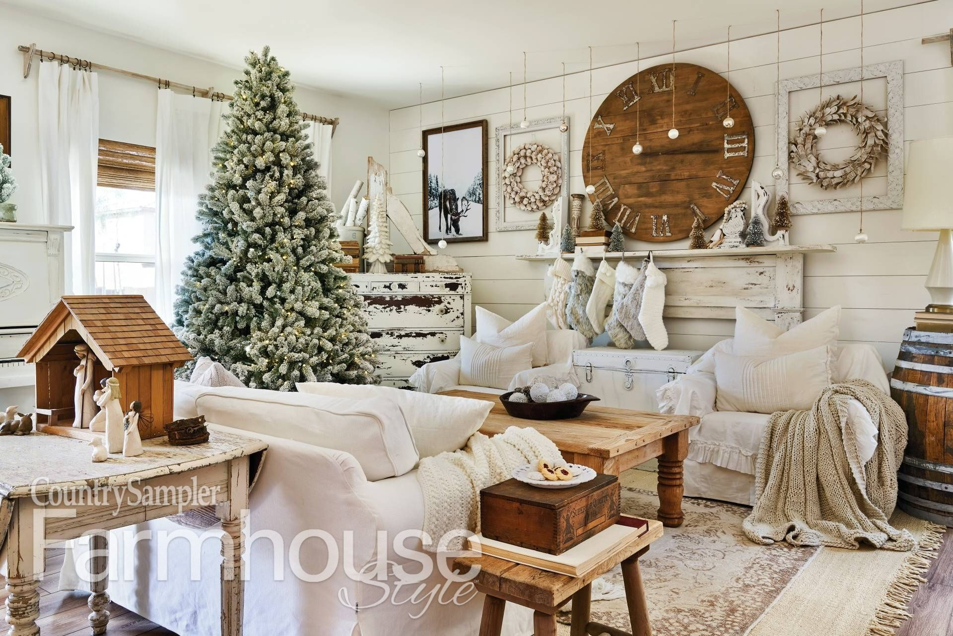 Have A Country Christmas Inspired By Country Sampler Farmhouse