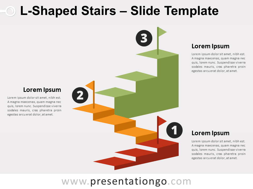L Shaped Stairs For Powerpoint And Google Slides Presentationgo Com Powerpoint Slide Designs Powerpoint Powerpoint Design Templates