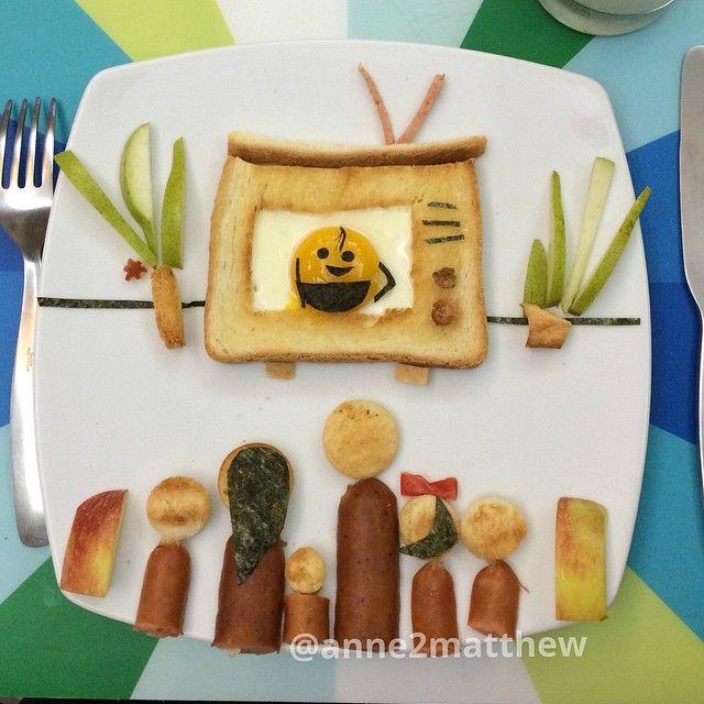TV breakfast art