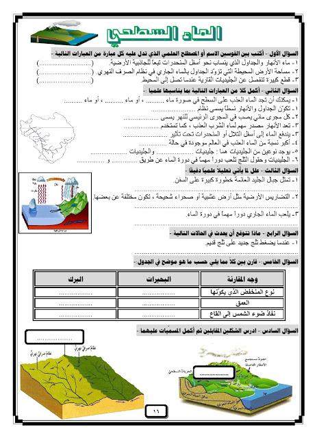 اوراق عمل في مادة العلوم الصف الثامن علوم الفصل الثاني ملفات الكويت التعليمية Map