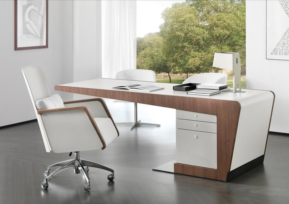 Pin By Designlush On Luxury Modern Custom Desks Designlush Office Table Design Office Furniture Design Office Cabin Design