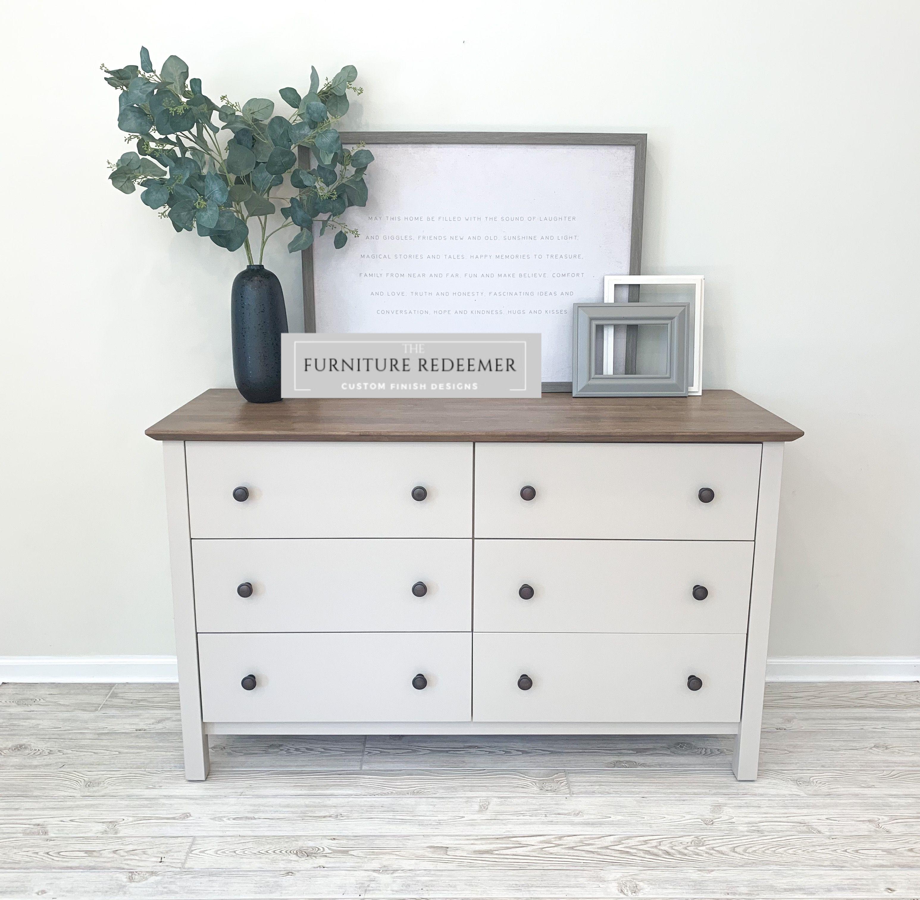 Farmhouse 6 Drawer Dresser White Stained Dresser White Dresser Decor Dresser Makeover White [ 3024 x 3092 Pixel ]