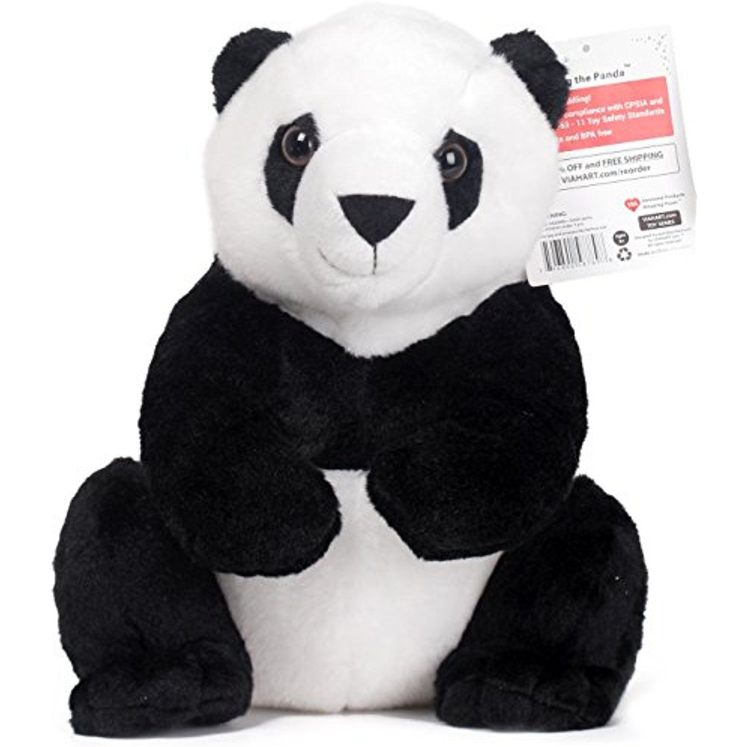 Xiaoxiong the Panda | 13 Inch Panda Bear Stuffed Animal | By Tiger Tale Toys  -
