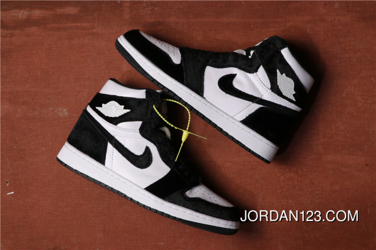 "Women/Men Air Jordan 1 Retro High OG ""Panda"" Black"
