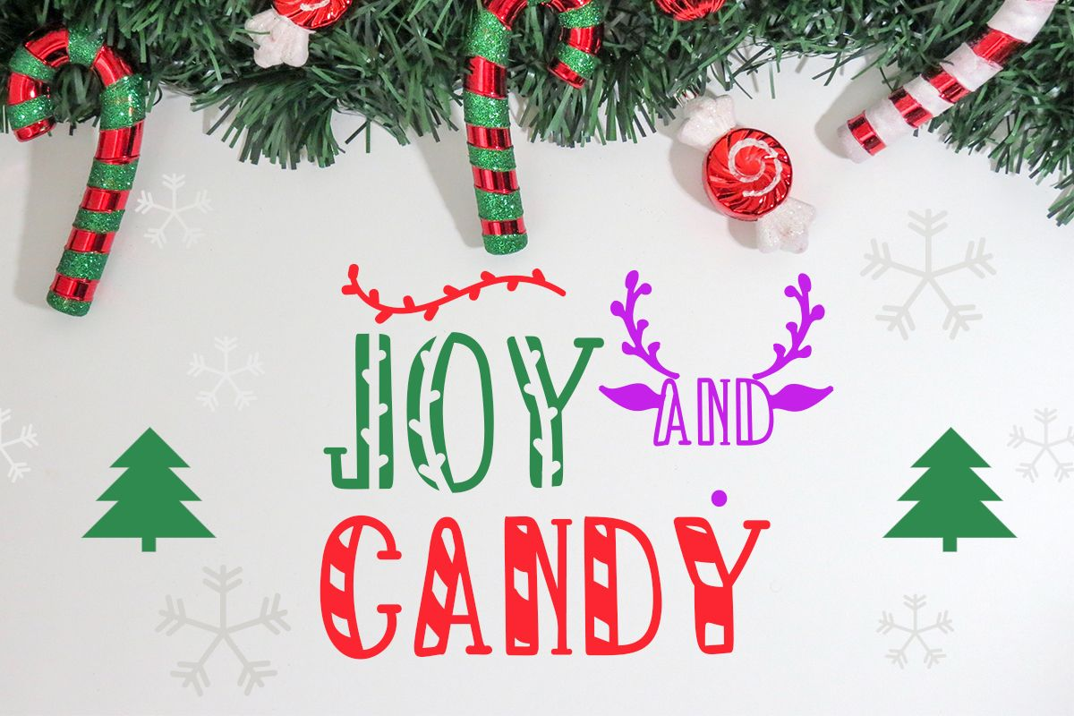 Joy And Candy Font By Lickable Pixels Creative Fabrica Christmas Fonts Unique Fonts Dingbat Fonts