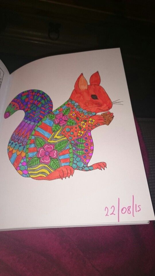 Animaux A Colorier Sarah Bigwood Squirrel Ilovetea86