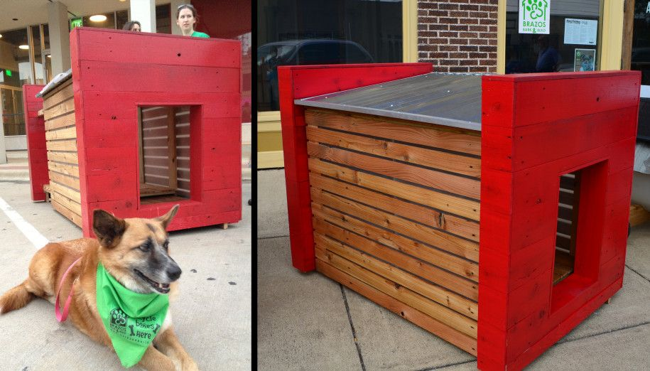 Furniture Interesting Bout Modern Dog Houses With Mix Brown And Red Color And Silver For Roof And Modular Wall Cool Dog Houses Dog Houses Dog House