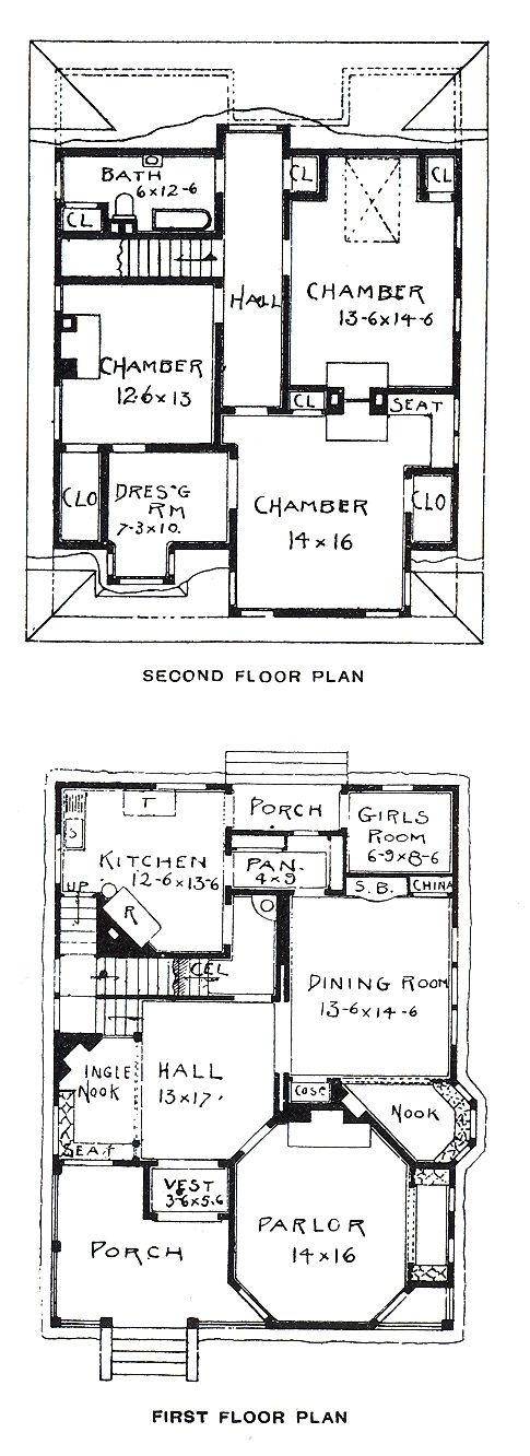 Vintage Floor Plan - Obviously the