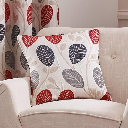 Red Turin Collection Cushion Cover Dunelm Living Room