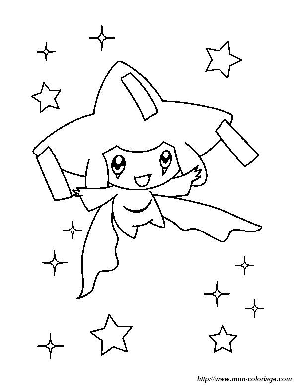 Picture Jirachi Pokemon Pokemon Coloring Pages Cute Coloring