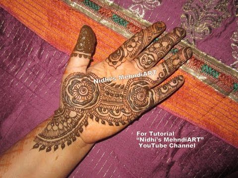 Mehndi For Shrimant : Pretty floral finger henna mehndi design tutorial youtube