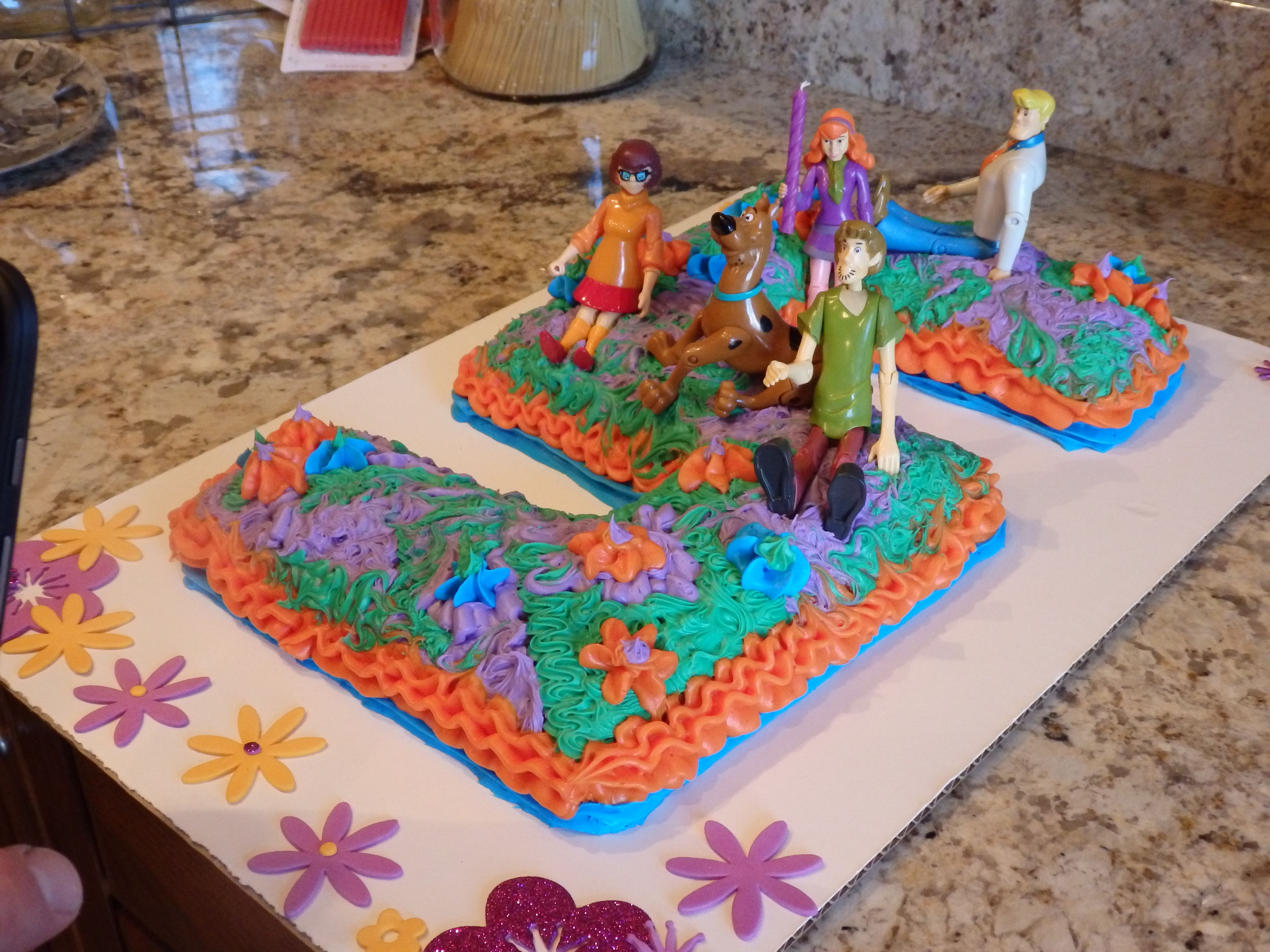 Scoobydoo inspired DIY birthday cake So fun and easy Mom