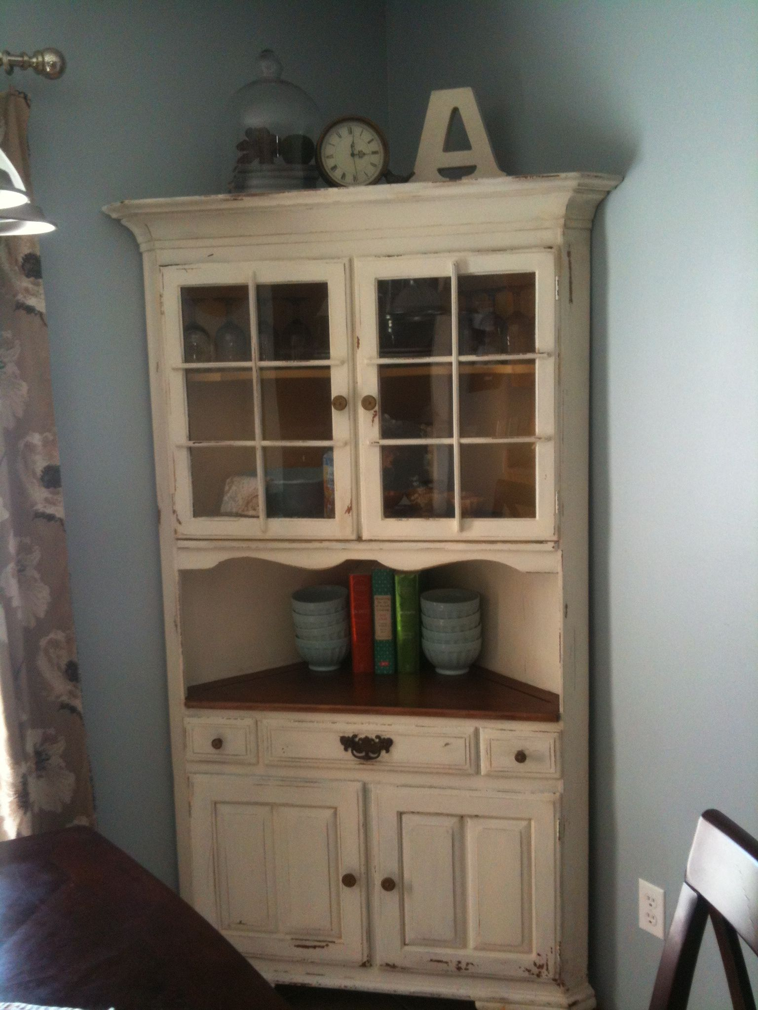 milk paint corner china cabinet decorating pinterest