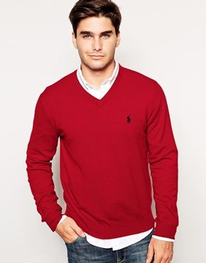 Merino Wool V Neck Jumper  #mens #christmas #gift #guide